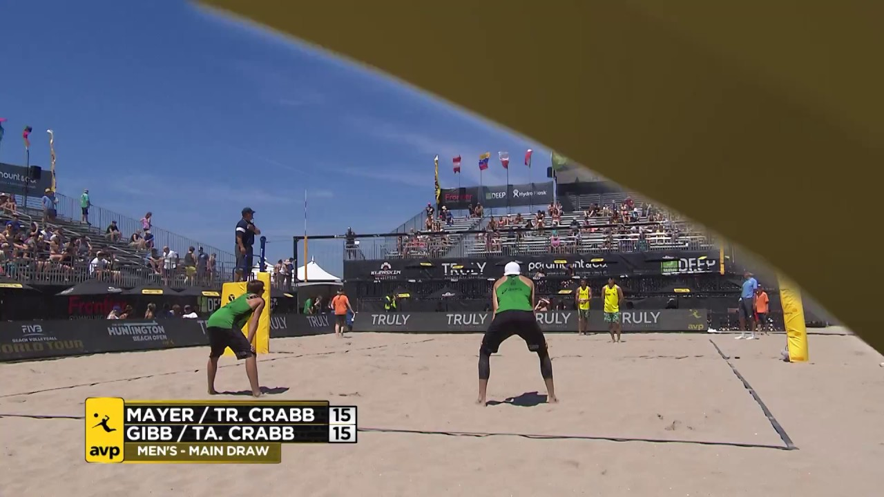 2018 FIVB Huntington Beach Open: Mayer/Crabb...